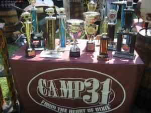 Camp 31's Trophy Table